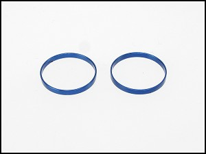 PN Racing Mini-Z Wheel Outer Lip for Front Wheel (2pcs Blue)