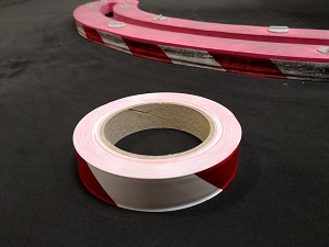 RCP Tracks Red/White Vinyl Tape 1' x 100 Feet