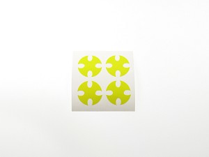 PN Racing Mini-Z Dish Wheel Stickers T4 Yellow