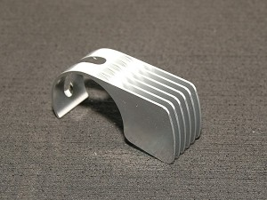 PN Racing Silver 6 Fins Motor Heatsink for 540 motor