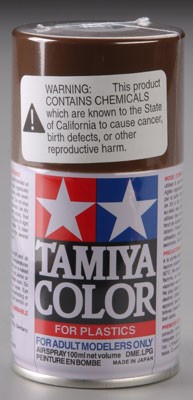 Tamiya Spray Lacquer TS-1 Red Brown