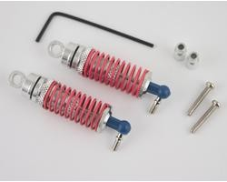 Hot Racing RC18T Silver alum front threaded shock set