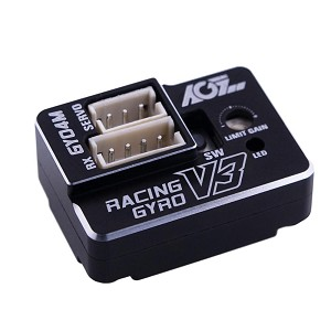 AGF RC GY04M V3 Aluminum Case Dual Gain Mini Size Steering Tuned Gyro For RC Drift Car