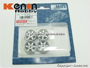 Kyosho Mini-Z MA010 Wheel Set (6-Spoke/Silver/Formula D)