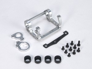 PN Racing Mini-Z V4 94-98mm Motor Mount for Kyosho Motor (Silver)