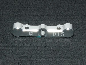 PN Racing ZX5 Alm. Front Arm Holder D15 (Silver)