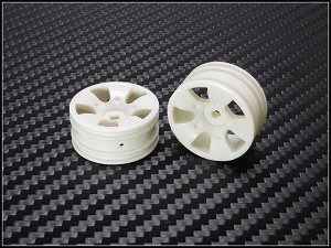 PN Racing Mini-Z Buggy Laser S5 Front Wheel White (2pcs)